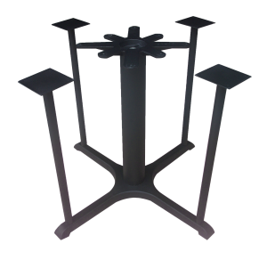 JI Bases Cast Iron 22-inch x 30-inch 4-prong Restaurant Black
