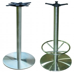 Stainless Bar Height Bases with or without footrings